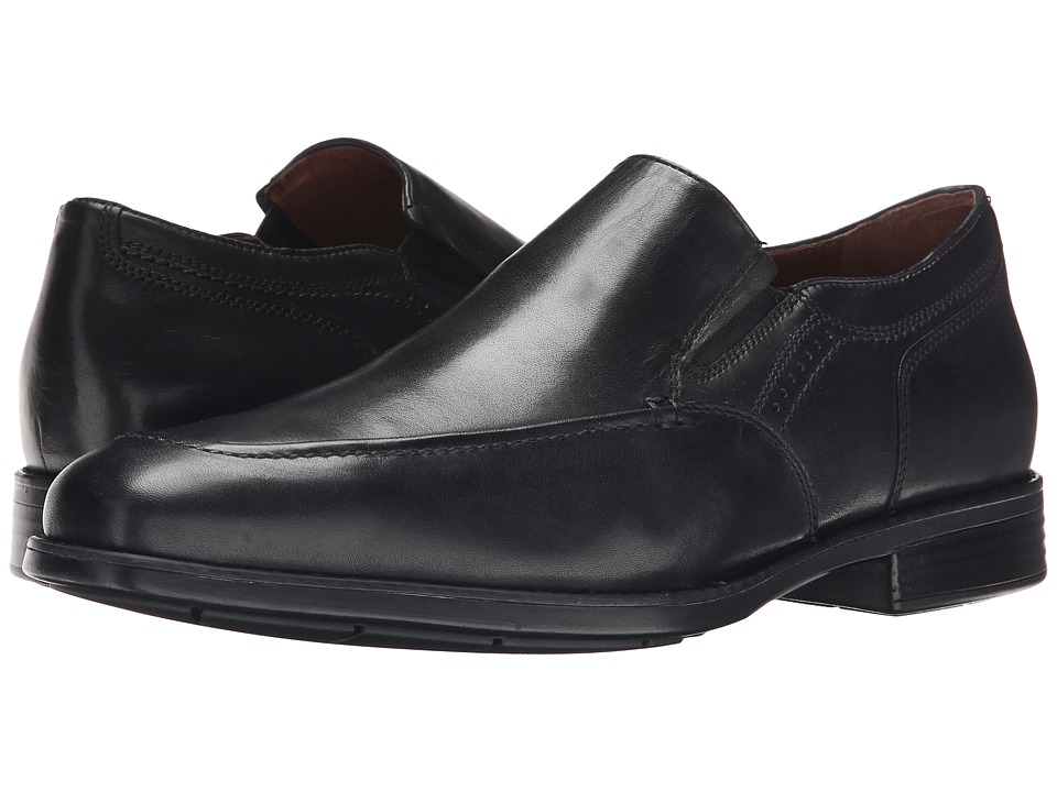 Johnston & Murphy - XC4 Waterproof Branning Moc Venetian (Black Waterproof Calfskin) Men's Slip-on Dress Shoes