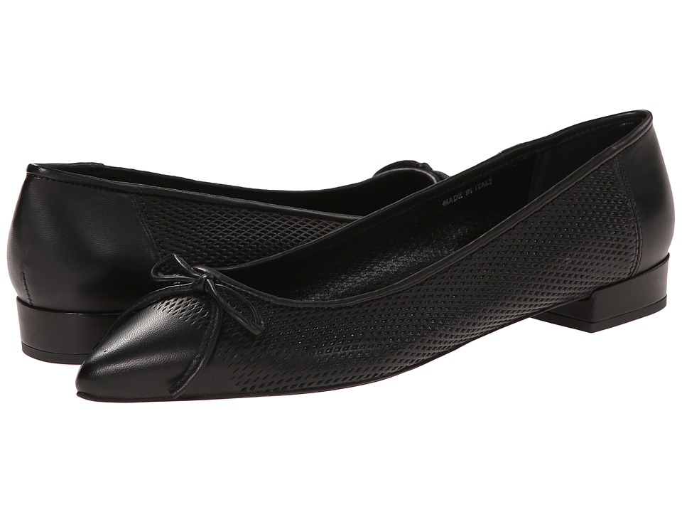 Summit White Mountain - Rosemary (Black Leather) Women's Flat Shoes