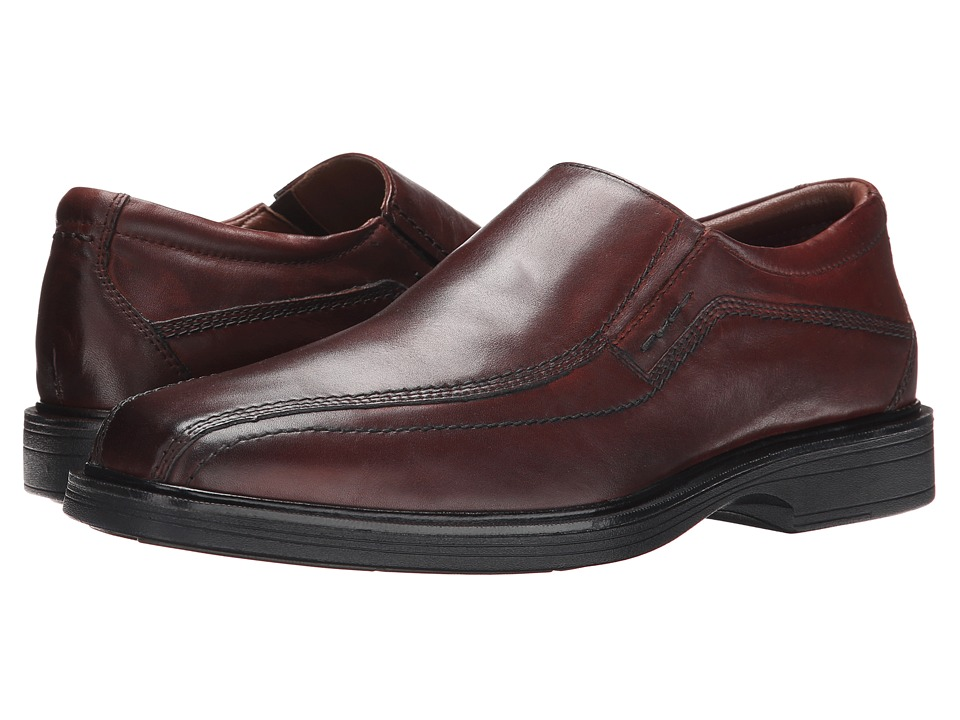 Johnston & Murphy - XC4 Waterproof Penn Slip-On (Red Brown Waterproof Calfskin) Men's Slip-on Dress Shoes
