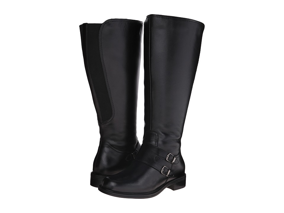 David Tate Highland Wide Shaft (Black Soft Calf) Women