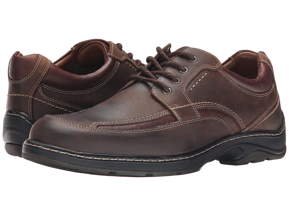 Johnston & Murphy - Fairfield Moc Lace-Up (Brown Oiled Waterproof Full Grain) Men's Slip on Shoes