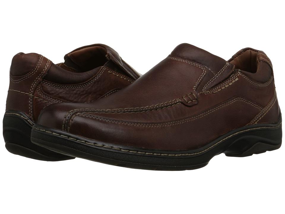 Johnston & Murphy - Fairfield Runoff Venetian (Mahogany Waterproof Full Grain) Men's Slip on Shoes
