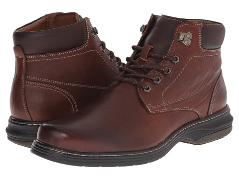 Johnston & Murphy - Colvard Plain Toe Boot (Mahogany Waterproof Full Grain) Men's Lace-up Boots