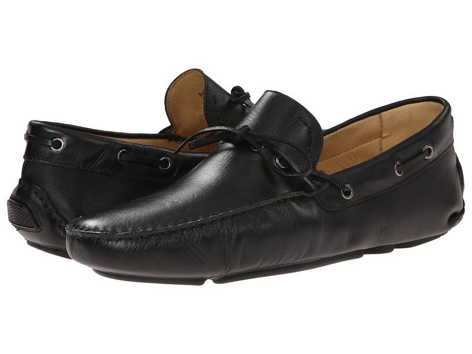 Massimo Matteo - Driver with Lace (Black) Men's Flat Shoes