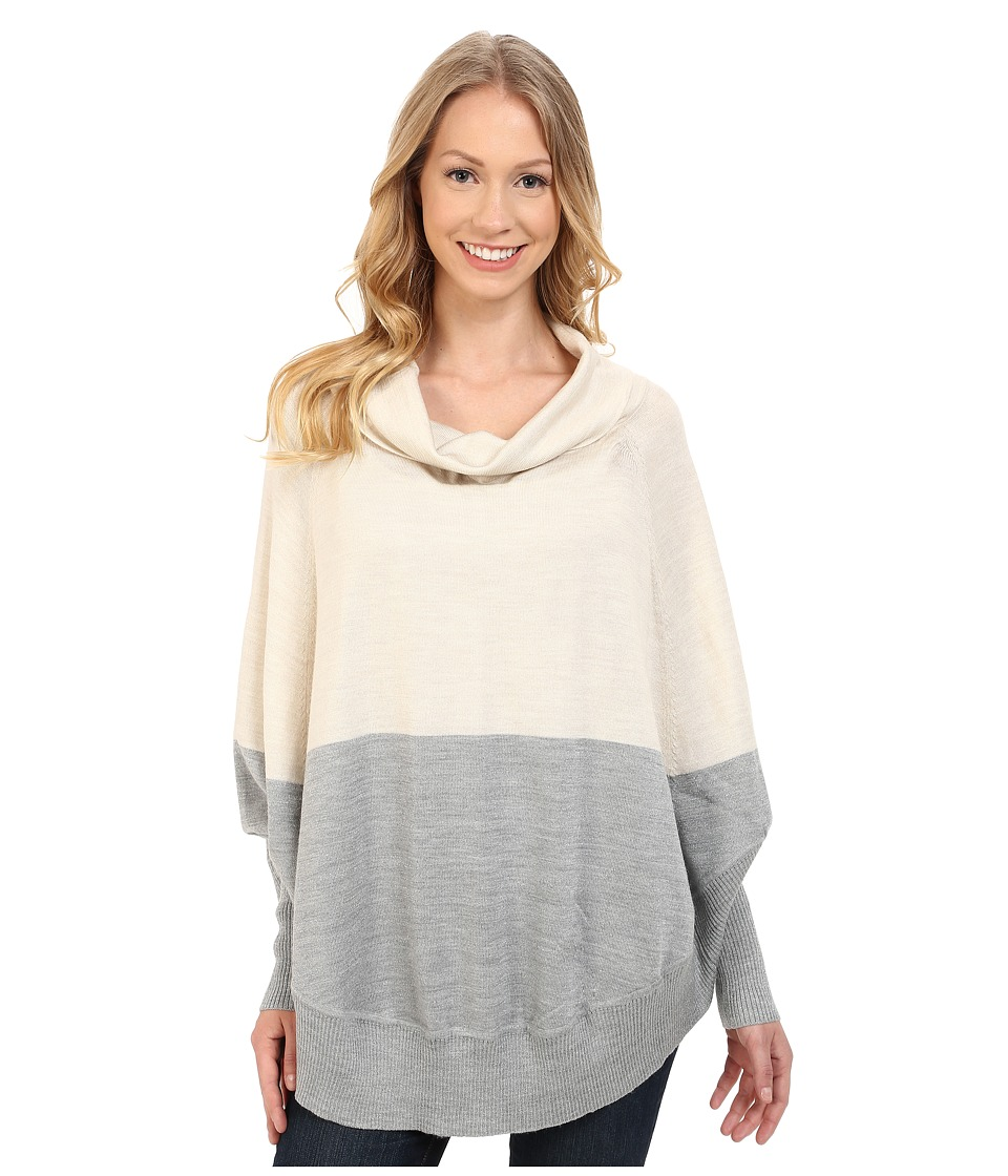 Smartwool - Nokoni Color Block Poncho (Natural Heather) Women