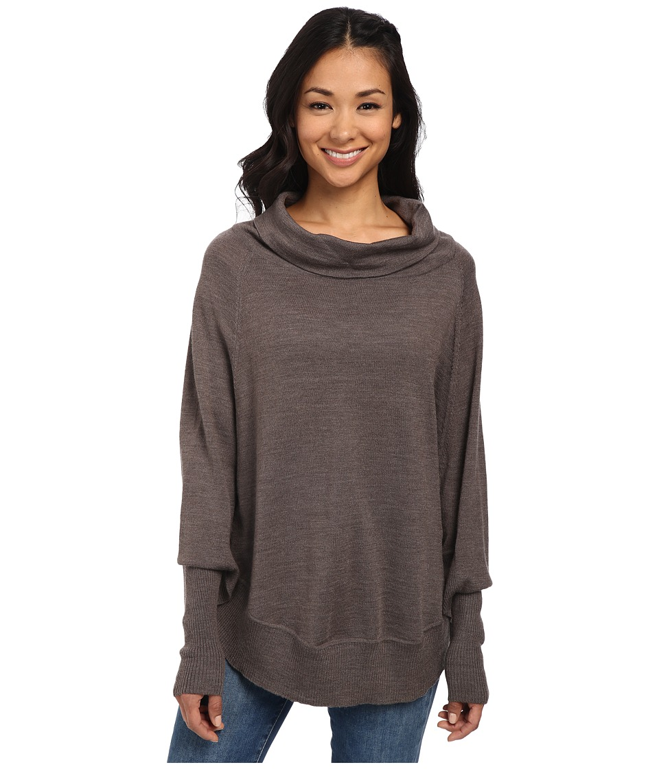 Smartwool - Nokoni Solid Poncho (Taupe Heather) Women's Sweater