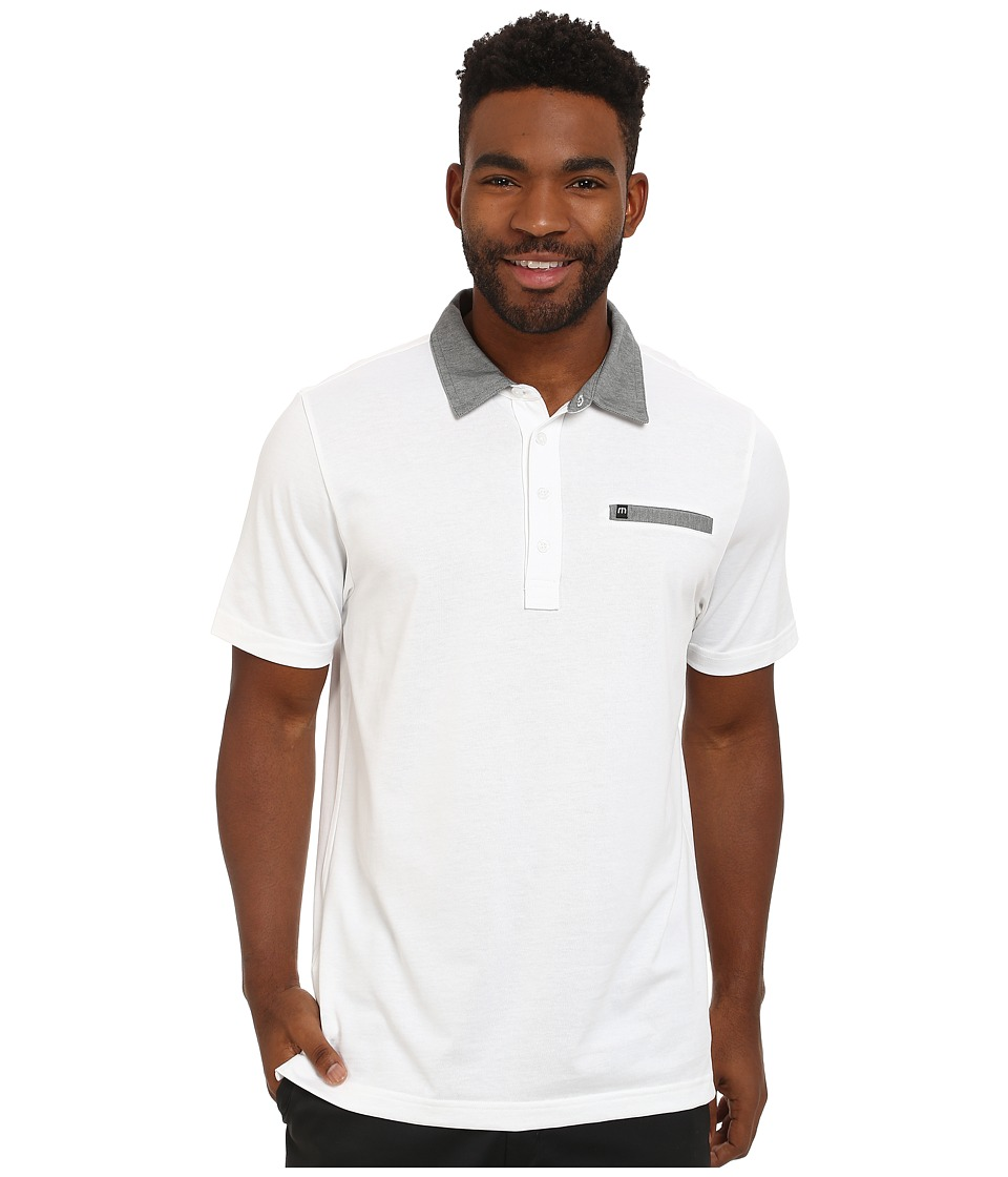 TravisMathew - Weston (White) Men's Short Sleeve Pullover