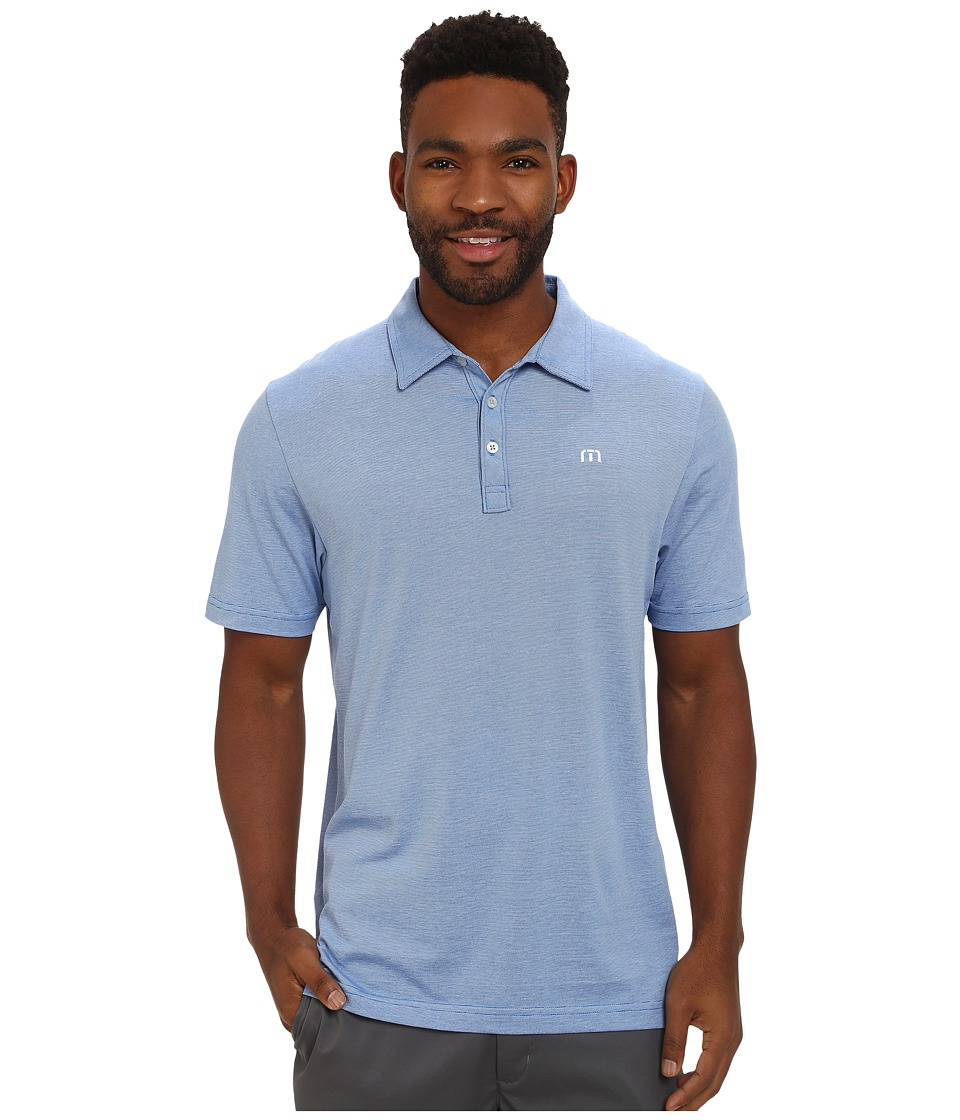 TravisMathew - Zinna (Strong Blue) Men's Short Sleeve Pullover