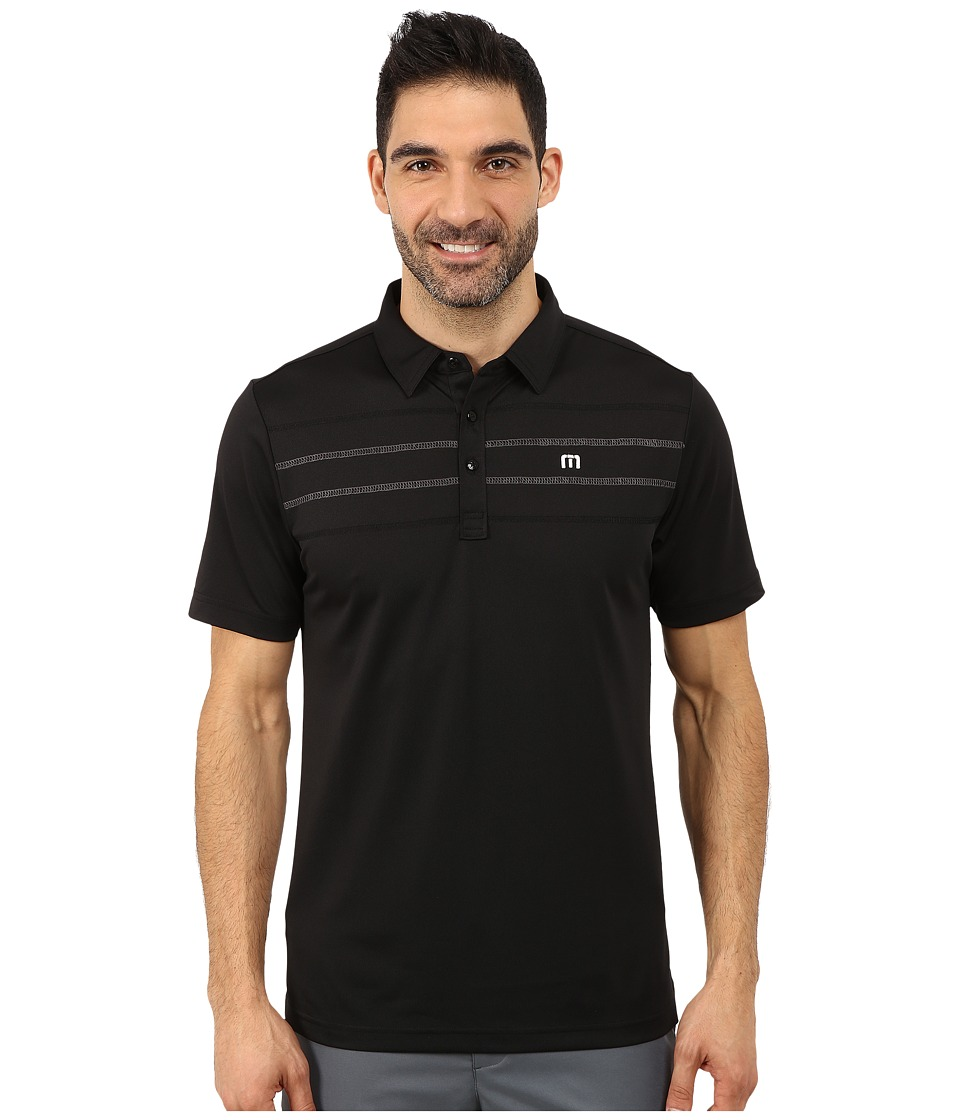 TravisMathew - Zeroes (Black) Men's Short Sleeve Pullover