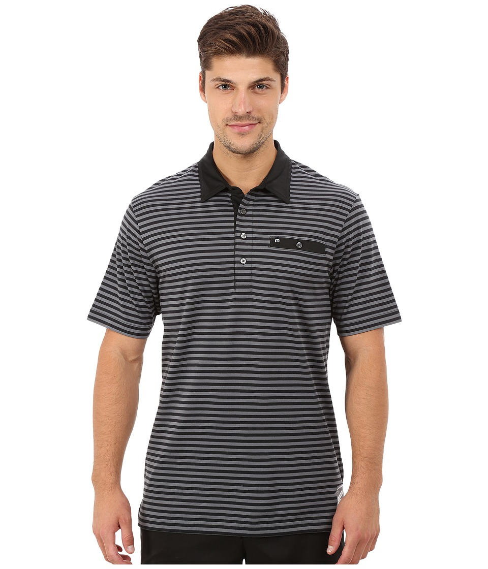 TravisMathew - El Porto (Black) Men's Short Sleeve Pullover