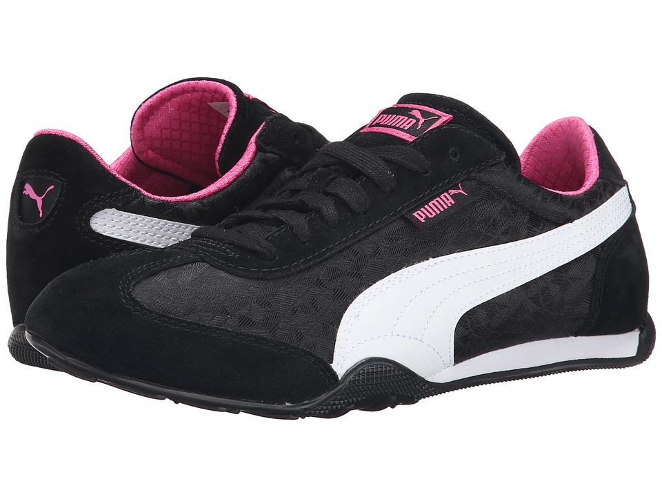 PUMA - 76 Runner Fun (Black/White/Carmine Rose) Women's Shoes