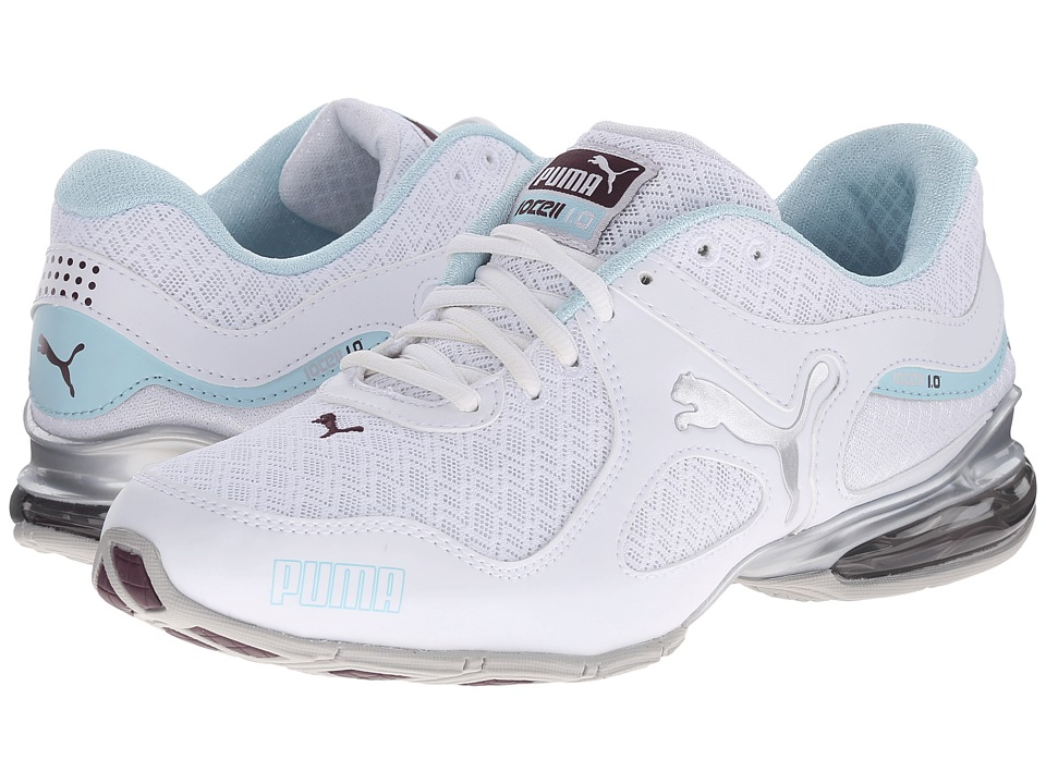 PUMA - Cell Riaze (White/Clearwater/Italian Plum) Women's Shoes