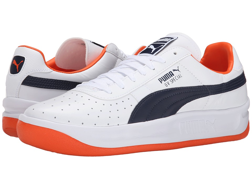 PUMA - GV Special (White/Peacoat/Vermillion Orange) Men's Classic Shoes