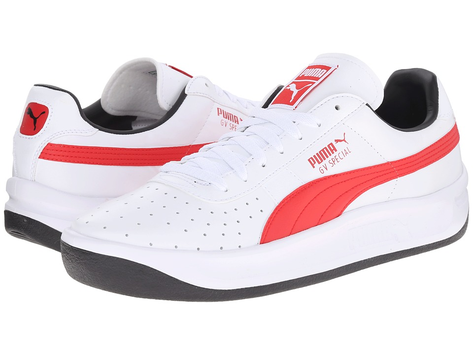 PUMA - GV Special (White/High Risk Red/Black) Men's Classic Shoes