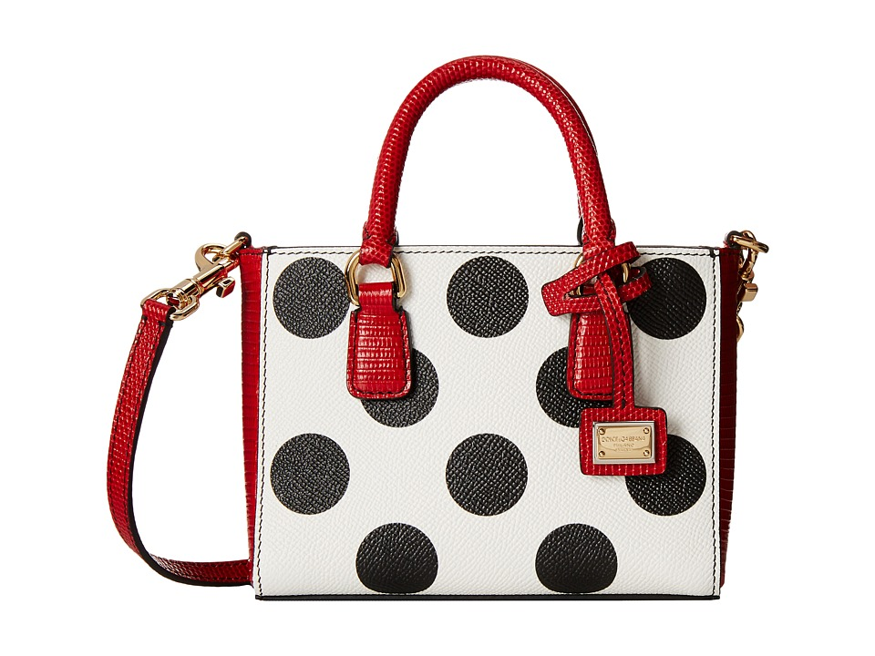 Dolce & Gabbana - Polka Dot Doulble Handle Mini Bag (Polka Dot) Shoulder Handbags