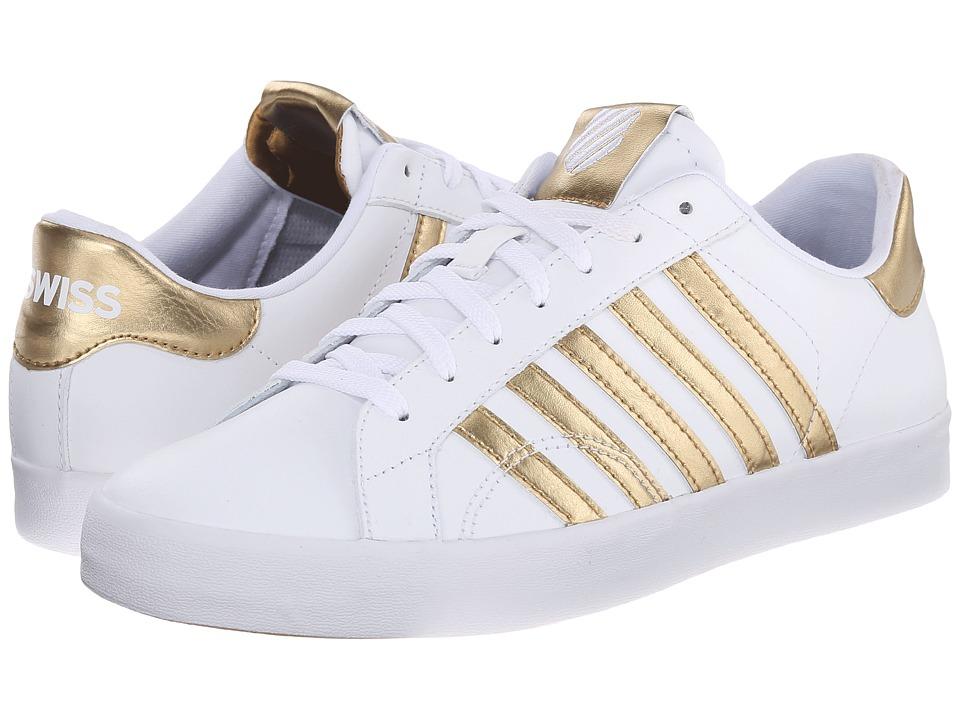 K-Swiss - Belmont So (White/Gold) Women's Shoes