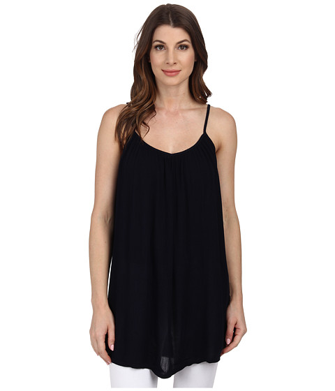 Allen Allen - Gathered V-Neck Cami (Lapis) Women