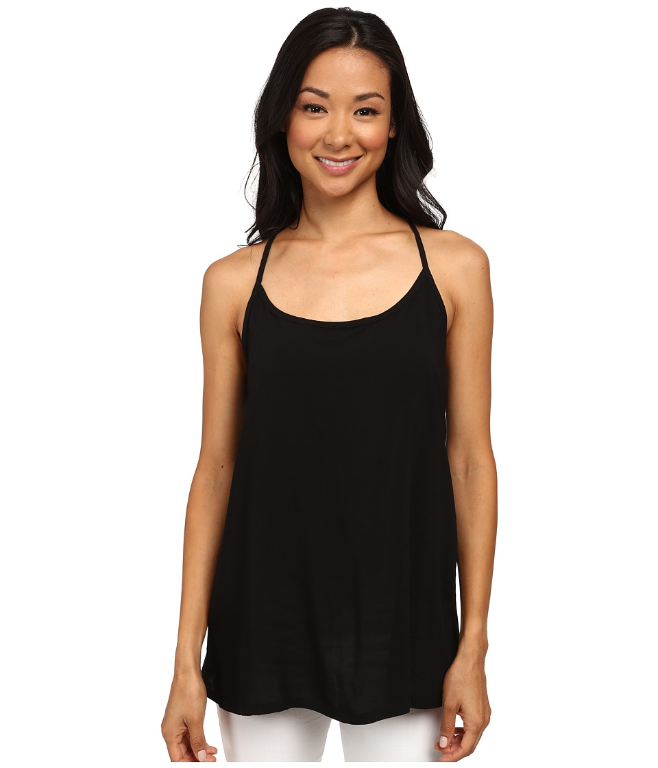 Allen Allen - Racerback Cami (Black) Women's Sleeveless