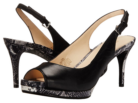 Nine West - Cinema (Black Leather) High Heels