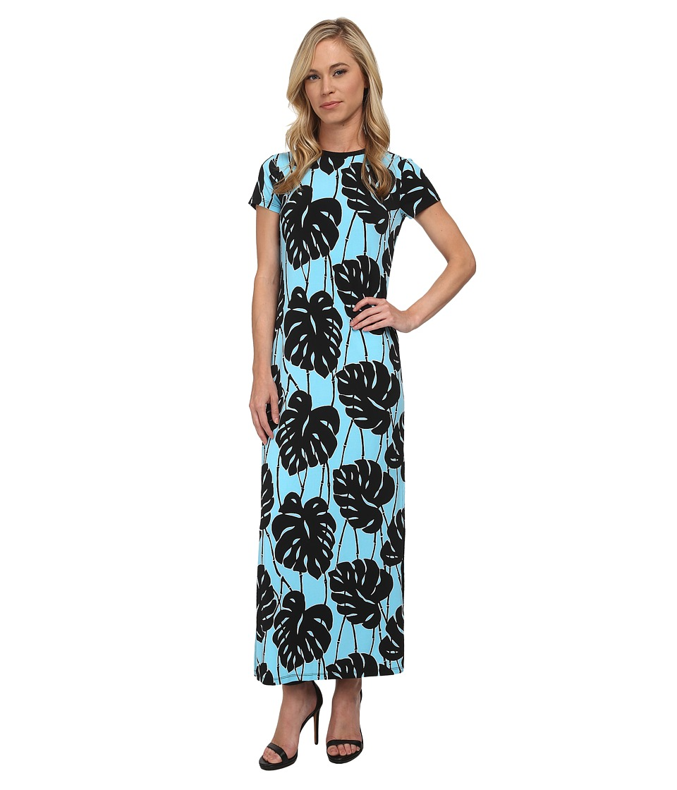 MICHAEL Michael Kors - Petite Trop Bay Leaf Maxi Dress (Peacock) Women's Dress