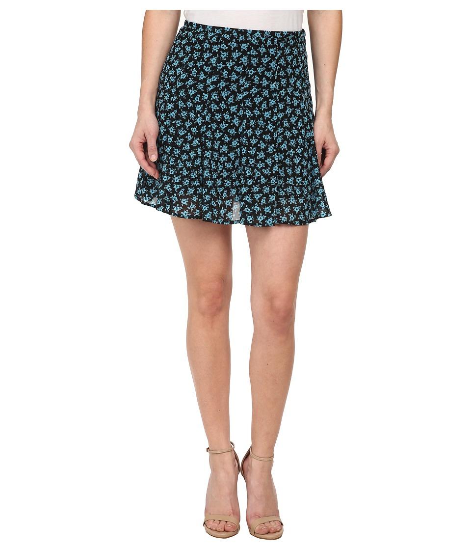 MICHAEL Michael Kors - Petite Sea Orchid Flare Skirt (Peacock) Women's Skirt