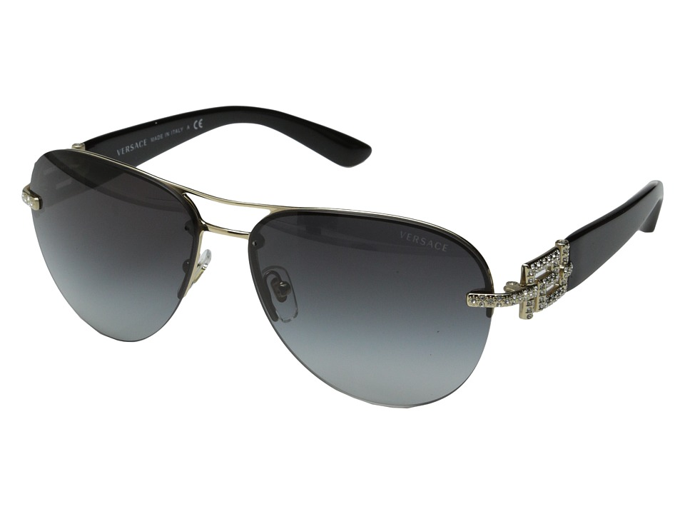 Versace - VE2159B (Pale Gold/Grey Gradient) Fashion Sunglasses