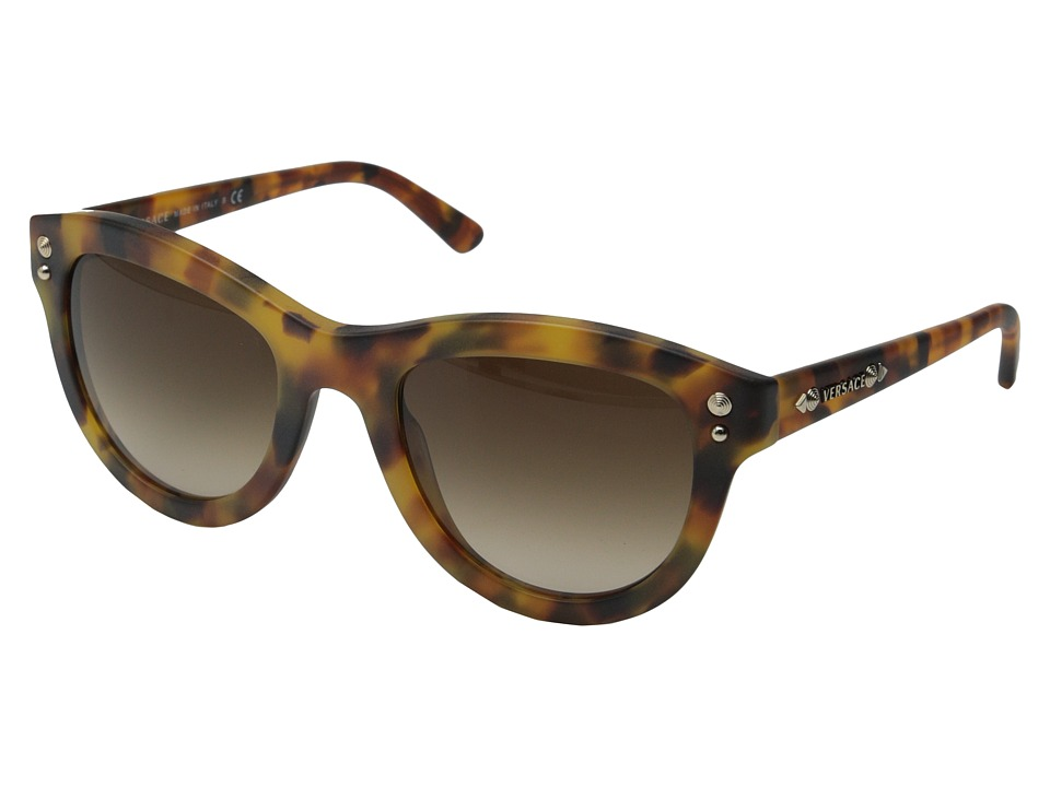 Versace - VE4291 (Matte Havana/Brown Gradient) Fashion Sunglasses