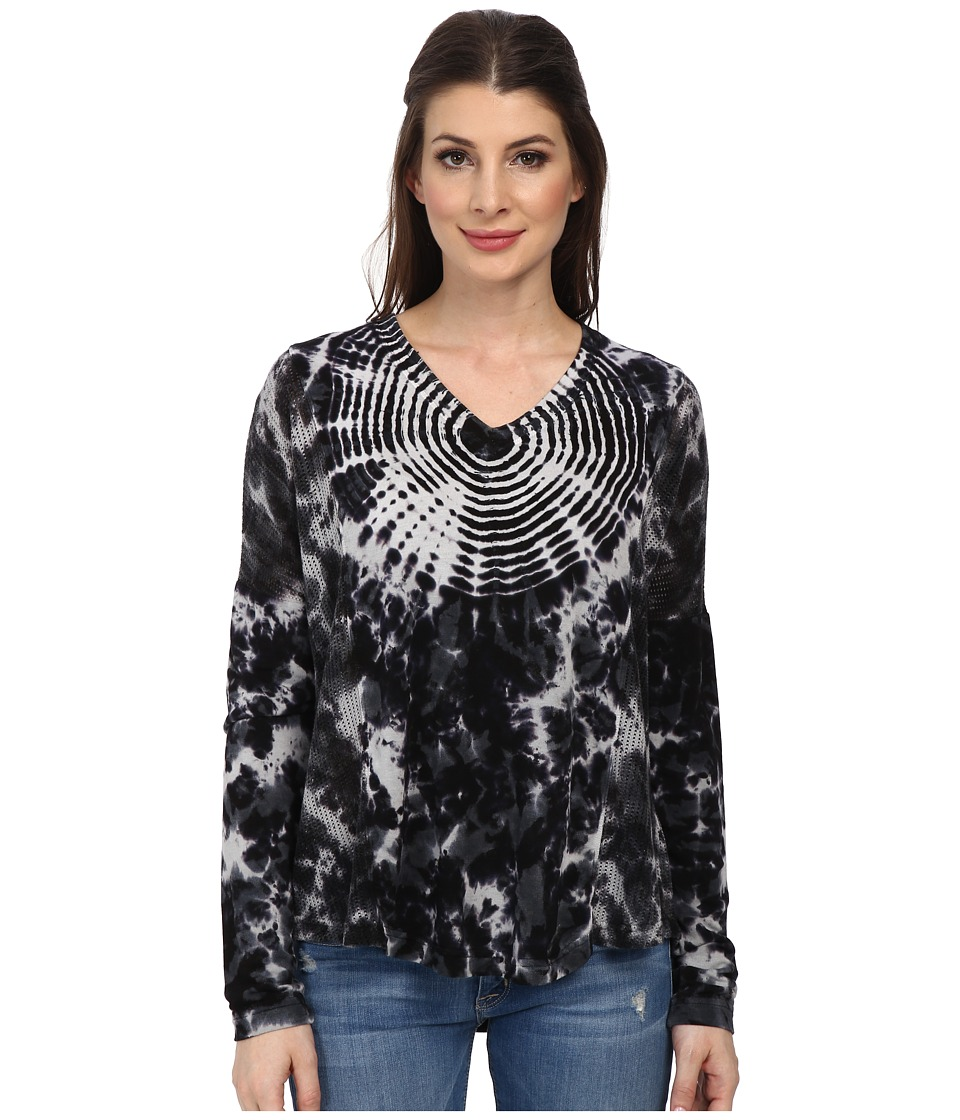 XCVI - Ginger Top (Tidepool Black) Women's Long Sleeve Pullover