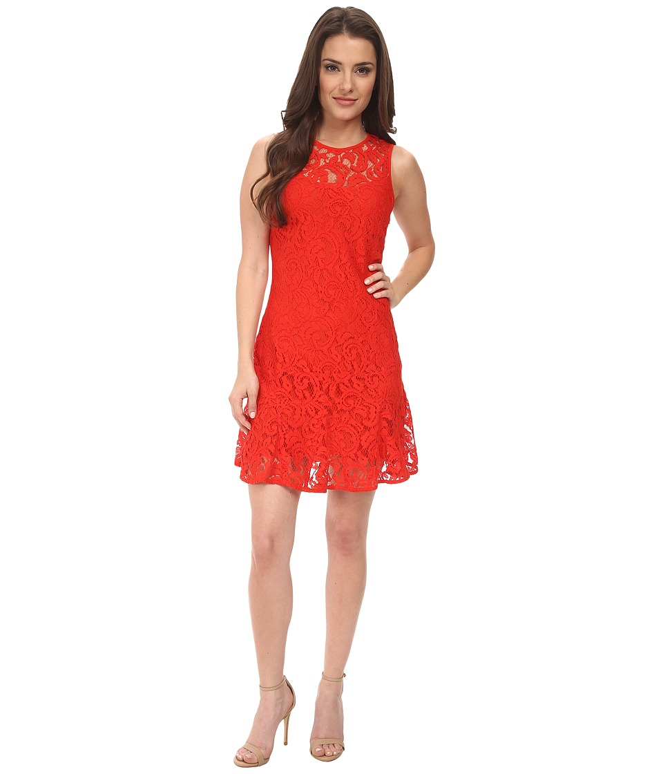 MICHAEL Michael Kors - Petite Sleeveless Godet Dress (Grenadine) Women's Dress