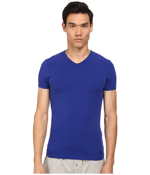 Versace - V-Neck Tee (Royal Blue) Men's T Shirt