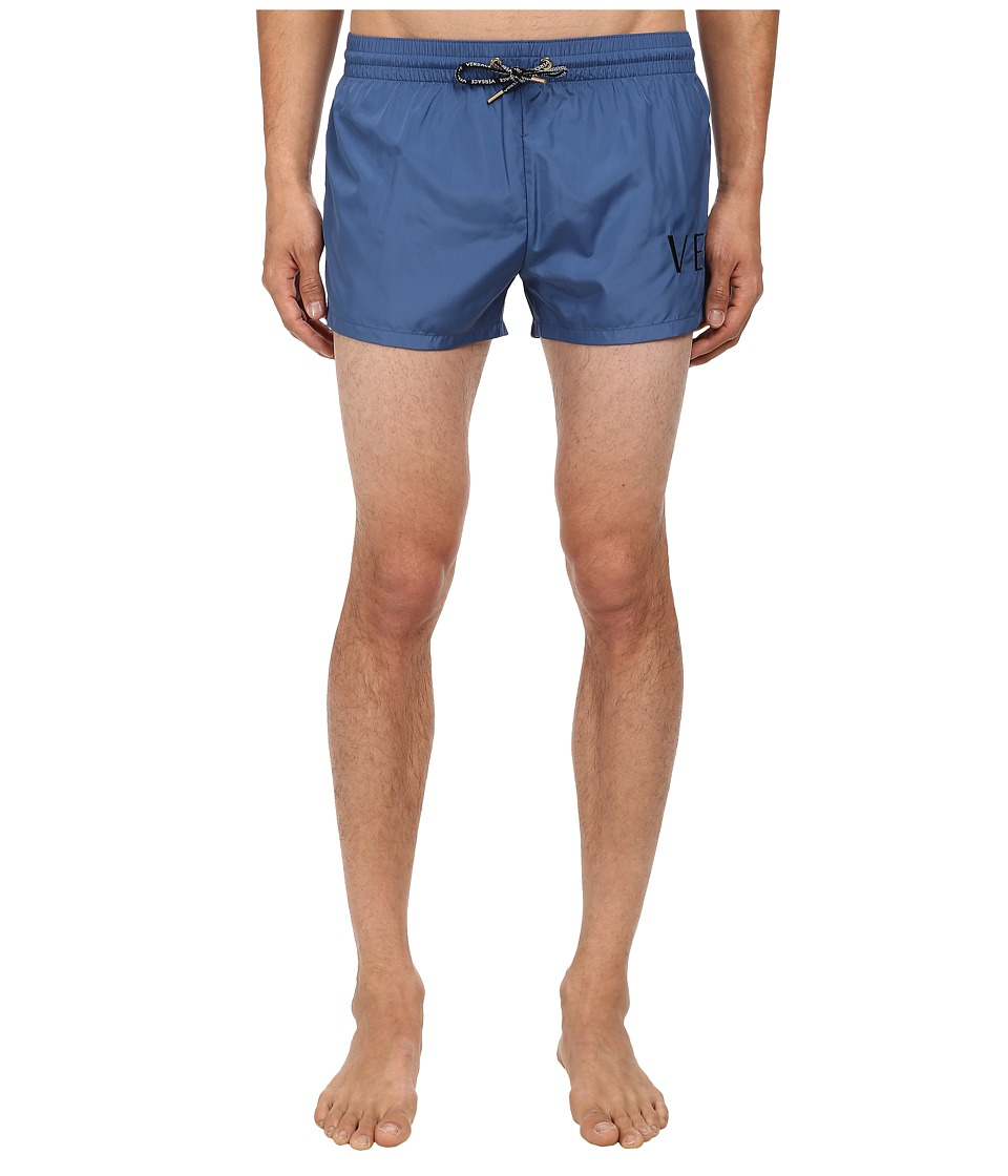 Versace - Titan Nylon Swim Boxer (Blue) Men's Swimwear