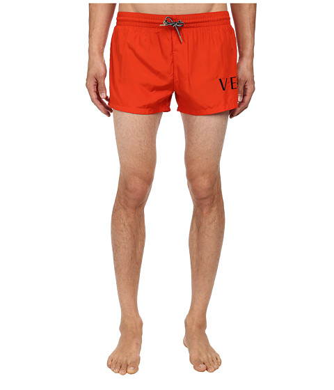 Versace - Titan Nylon Swim Boxer (Orange) Men's Swimwear