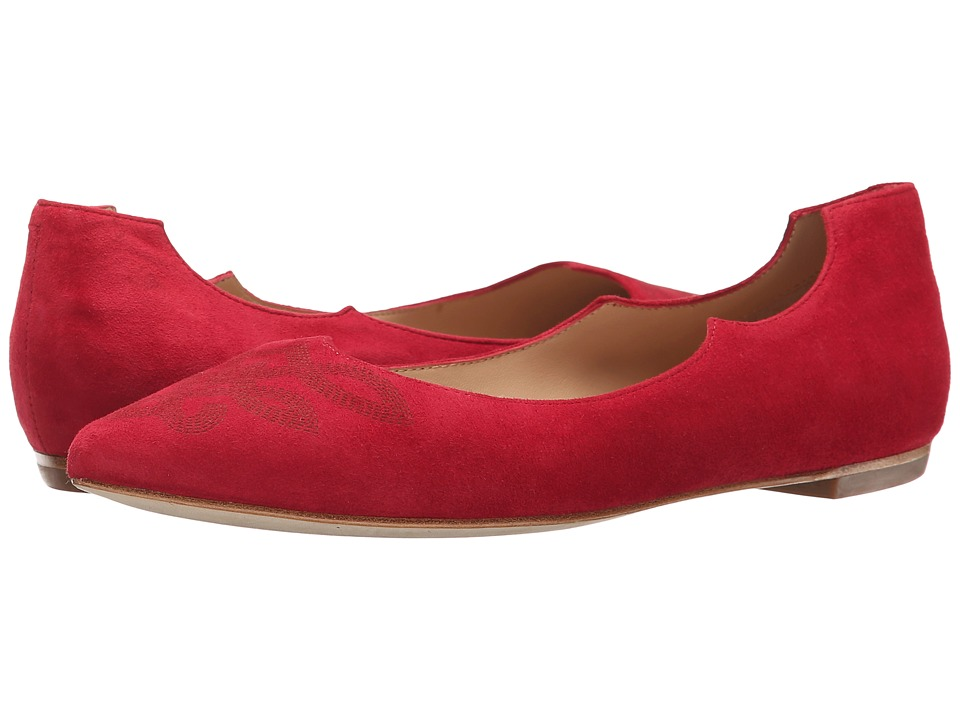 Belle by Sigerson Morrison - Vista (Medium Red Suede) Women's Slip on Shoes