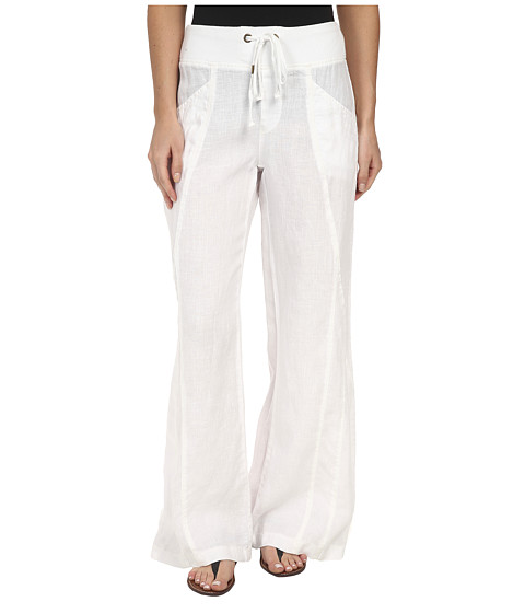 XCVI - Freesia Wide Leg Pants - Linen (White) Women's Casual Pants