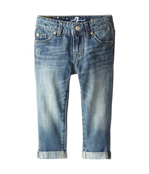 7 For All Mankind Kids - Skinny Crop and Roll Jeans in Absolute Heritage (Little Kids) (Absolute Heritage) Girl's Jeans