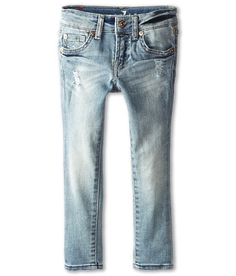 7 For All Mankind Kids - Faded Blue Skinny Jeans in Slim Illusion (Little Kids) (Slim Illusion) Girl