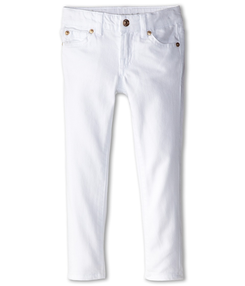 7 For All Mankind Kids - Skinny Jeans in Clean White (Little Kids) (Clean White) Girl