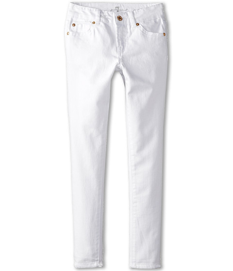 7 For All Mankind Kids - Skinny Jeans in Clean White (Big Kids) (Clean White) Girl