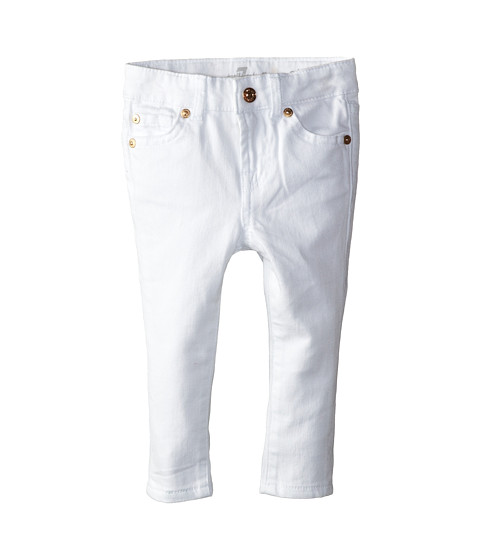 7 For All Mankind Kids - Skinny Jeans in Clean White (Infant) (Clean White) Girl