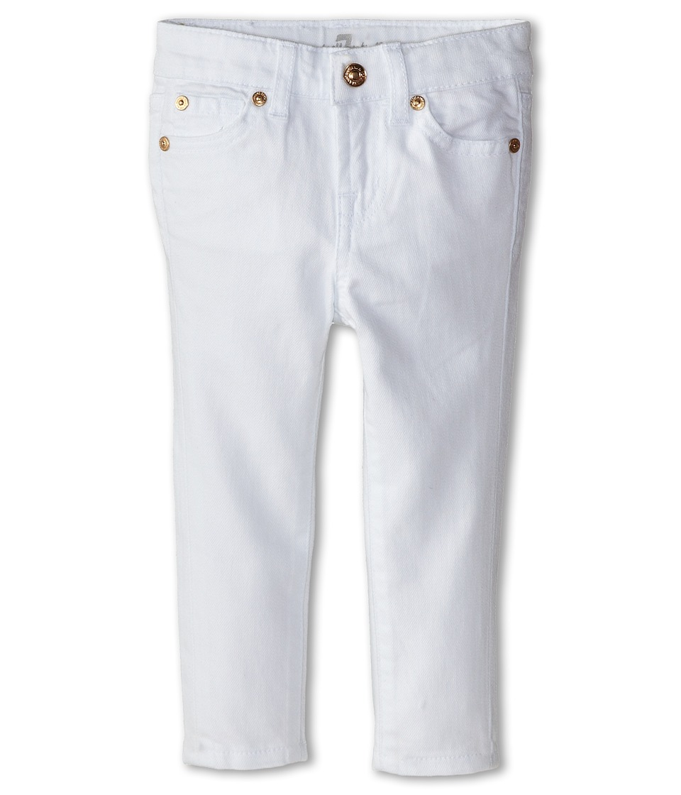 7 For All Mankind Kids - Skinny Jeans in Clean White (Toddler) (Clean White) Girl's Jeans