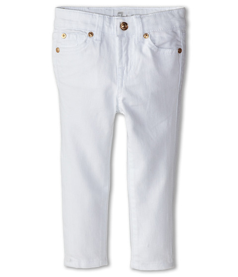 7 For All Mankind Kids - Skinny Jeans in Clean White (Toddler) (Clean White) Girl