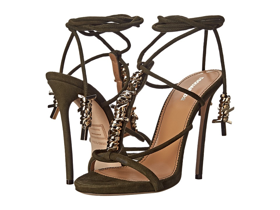 DSQUARED2 - Barbed Wire Sandal (Camoscio Betulla) High Heels