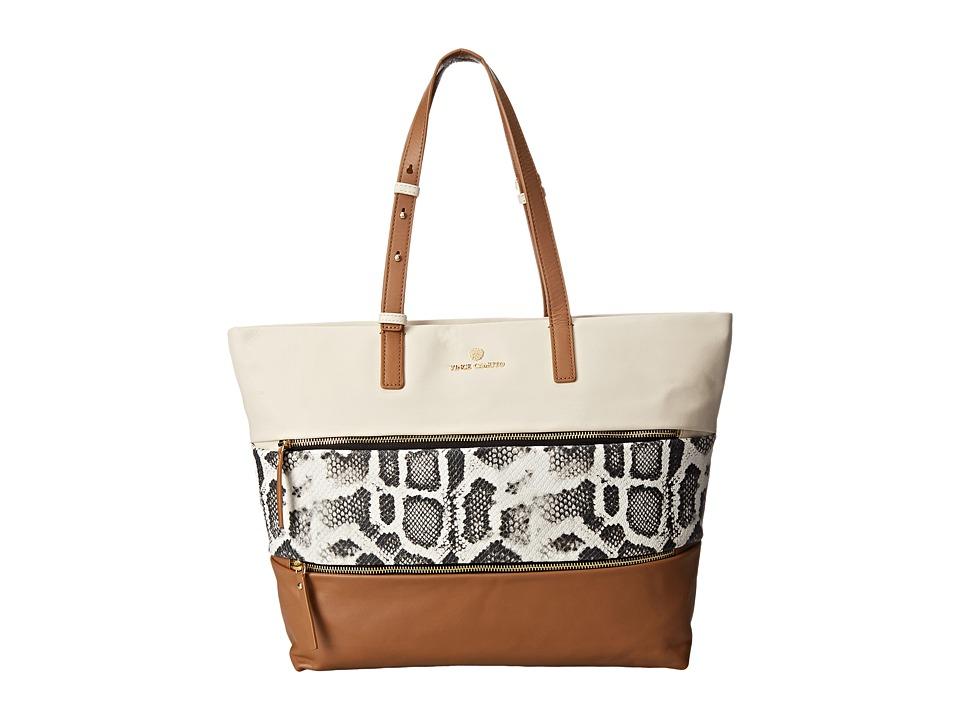 Vince Camuto - Meg Tote (White/Rich Auburn) Tote Handbags