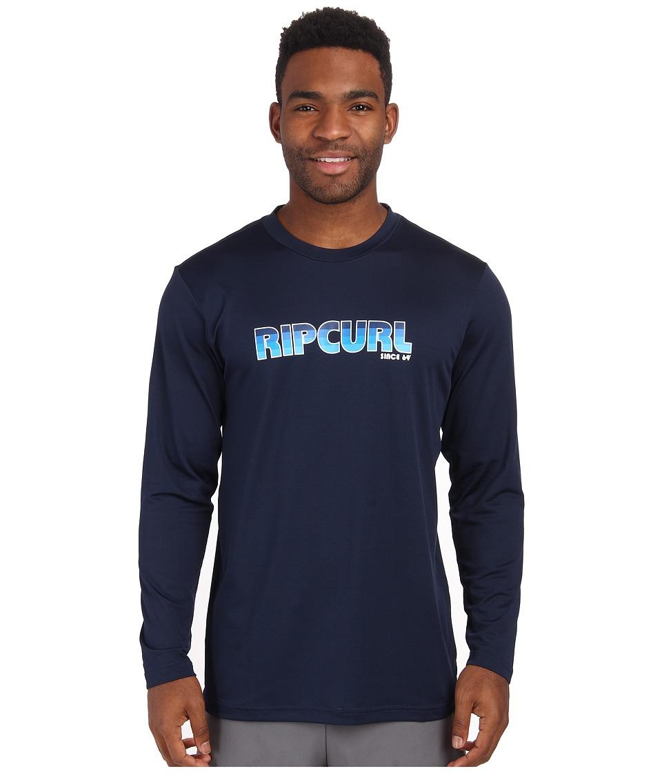 Rip Curl - Big Mama Long Sleeve Surf Shirt (Navy) Men's Swimwear