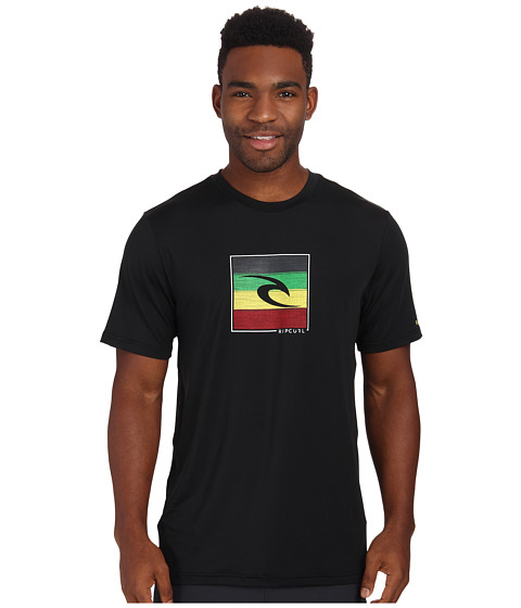 Rip Curl - Hot Box Short Sleeve Surf Shirt (Black) Men