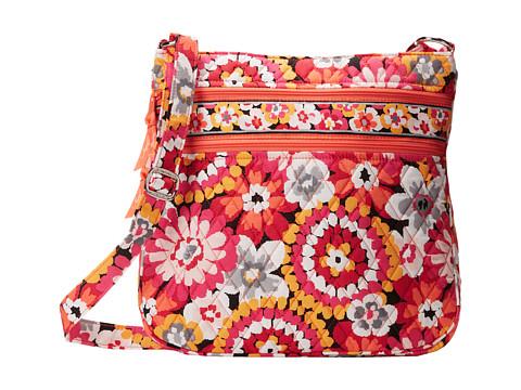 Vera Bradley - Triple Zip Hipster (Pixie Blooms) Cross Body Handbags