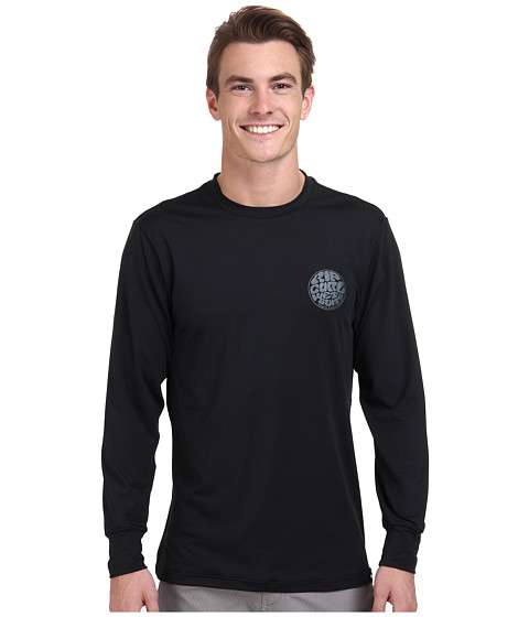 Rip Curl - Wettie Long Sleeve Surf Shirt (Black) Men's Swimwear