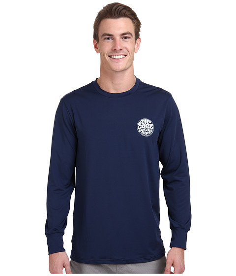 Rip Curl - Wettie Long Sleeve Surf Shirt (Navy) Men's Swimwear