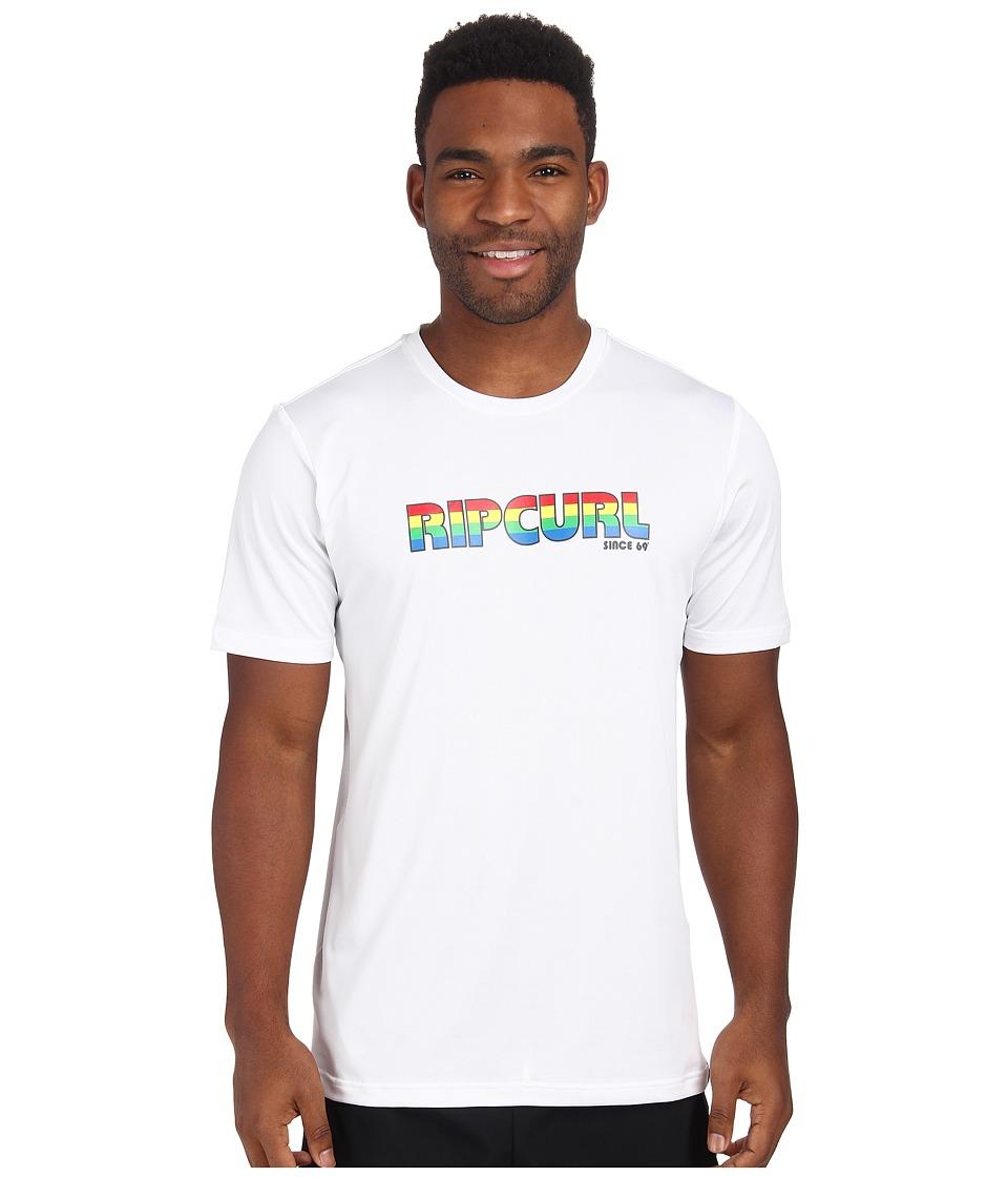 Rip Curl - Big Mama Short Sleeve Surf Shirt (White) Men's Swimwear