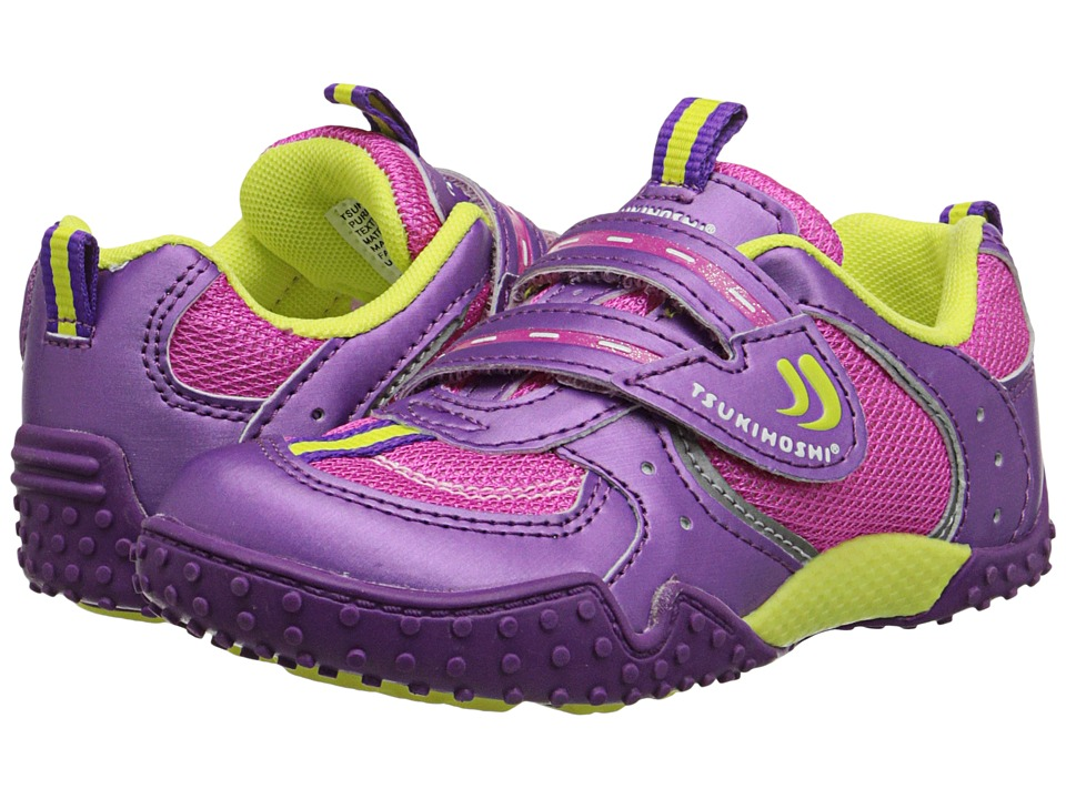 Tsukihoshi Kids - Wheel (Toddler/Little Kid) (Purple/Pink) Girls Shoes